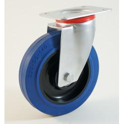 Roulette à platine bandage caoutchouc CU 100 à 350 Kg