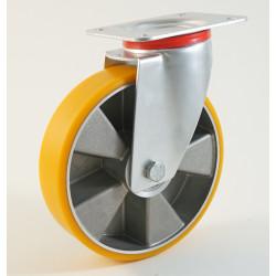 Roulette à platine bandage polyuréthane CU 150 à 350 Kg