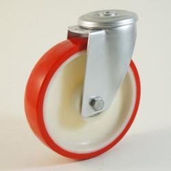 Roulette à trou central, roue à bandage polyuréthane CU 100 à 300 Kg