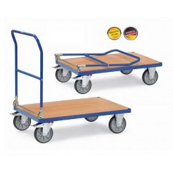 poignée rabattable pour chariots
