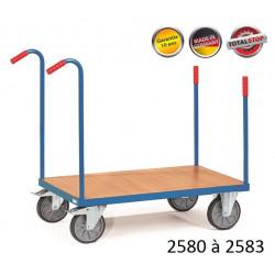 Chariots de manutention à barres de poussée