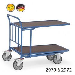 Chariots emboîtables à étagères
