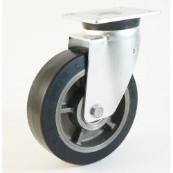 Roulette à platine, bandage caoutchouc, charges 400 à 600 Kg (série EQ/40-60)