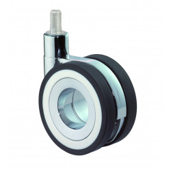 Roulettes design bandage polyuréthane noir, gris, rouge (série DS)