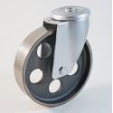 Roulette à trou central, roue en fonte - 40 à + 500 °C (série QE/22)