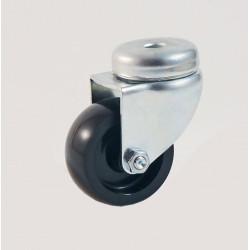 Roulette à oeil roue nylon noir CU 50 à 60 Kg
