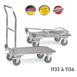 Chariots de manutention à dossier pliable en aluminium