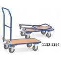 Chariots de manutention à dossier pliable