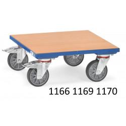 Plateaux roulants surface bois