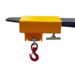 Crochet potence pour chariots élévateurs, simple fourreau, charge 2500 Kg