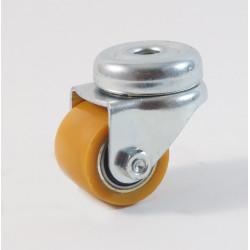 Petite roulette à trou centrale renforcé Ø 35 mm, bandage polyuréthane charges 100 Kg (série Z/111)