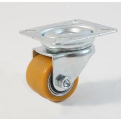 Petite roulette à platine renforcé Ø 35 mm, bandage polyuréthane charges 100 Kg (série Z/11)