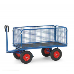 Chars à bras avec 4 ridelles en treillis (H600) CU 700 à 1250 Kg